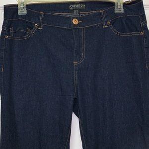 NWOT Forever 21 dark rinse flare jeans